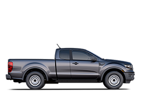 Side profile of 2019 Ford Ranger shown in Magnetic