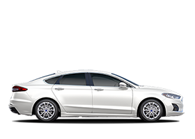 2020 Ford Fusion Plug in Hybrid SEL shown in white platinum
