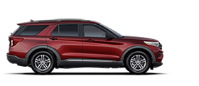 2020 Ford Explorer Platinum shown in Rapid Red