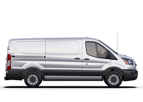 2020 Ford Transit shown in Oxford White from right profile