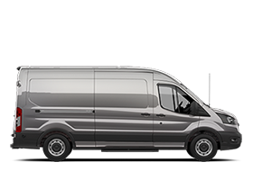 Side profile view of 2020 Ford Transit Cargo Van