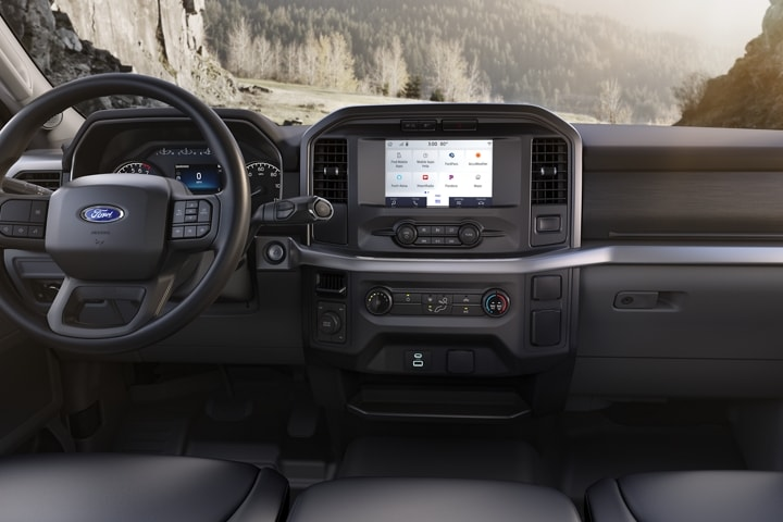 The 12 inch centre console in a 2021 Ford F 1 50