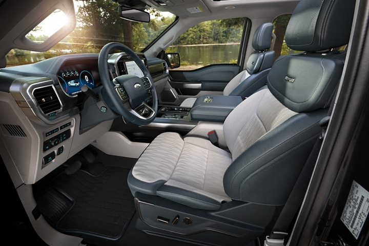 Interior view of a 2021 Ford F 1 50 Limited